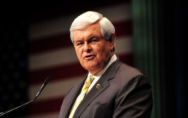 Republican presidential hopeful Newt Gingrich in Washington, Feb., 10, 2012. UPI/Kevin Dietsch