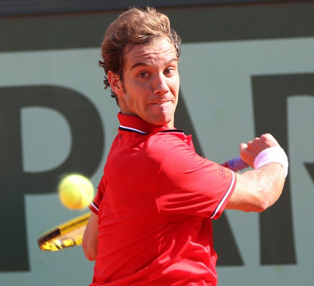 Richard Gasquet, shown during the 2011 French Open, collected a second-round win Thursday and will be among five French players advancing to the quarterfinals of the Open 13 tournament in Marseille, France. UPI/David Silpa