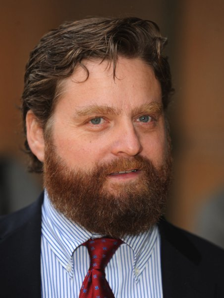 American actor Zach Galifianakis attends the premiere of Hangover at Empire, Leicester Square in London on June 10, 2009. (UPI Photo/Rune Hellestad)