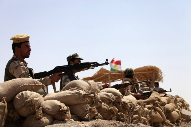 Iraqi soldiers take up position in Makhmur, northwest of Erbil, Kurdistan region, Iraq, in 2014. Monday, officials said Iraqi forces recaptured the town from Islamic State militants with help from coalition airstrikes. Forces have been fighting in the area for about two years. File Photo by Mohammed al Jumaily/UPI