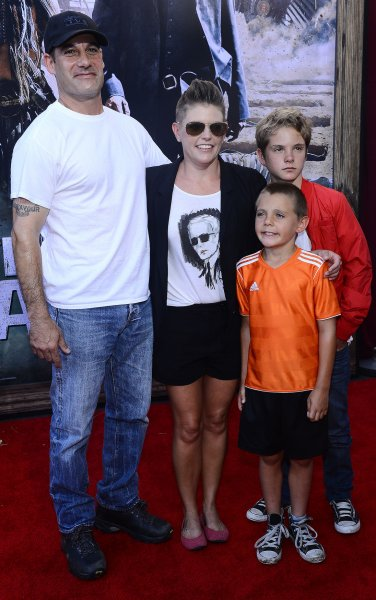 Singer Natalie Maines arrives with her family for the world premiere of Disney/Jerry Buckheimer Films' The Lone Ranger in Anaheim on June 22, 2013. Maines and her husband Adrian Pasdar are divorcing. File Photo by Jim Ruymen/UPI