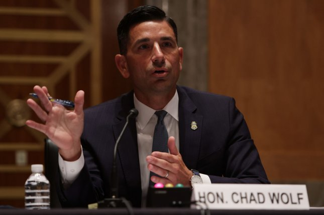 Chad Wolf has served as acting secretary for the Department of Homeland Security since November. Pool Photo by Alex Wong/UPI