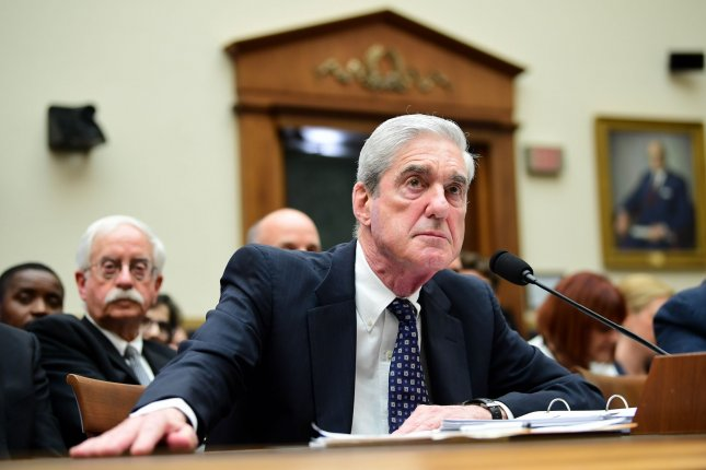 Former special counsel Robert Mueller testifies on his probe into Russian interference of the 2016 presidential election on Capitol Hill on July 24, 2019. On Tuesday, the House judiciary sought to have arguments for the release of Mueller's grand jury documents delayed. File Photo by Kevin Dietsch/UPI