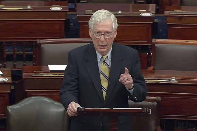 Senate Minority Leader Mitch McConnell's assessment of Donald Trump's role in inciting insurrection could not have been more damning.  Yet he voted to acquit him. Photo courtesy of U.S. Senate