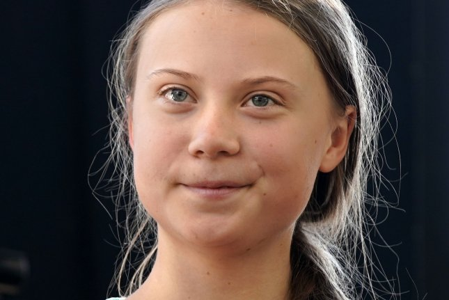 Swedish environmental activist Greta Thunberg waits to speak on the stage in New York City's Battery Park at the Global Climate Strike March on September 20, 2019. File Photo by John Angelillo/UPI