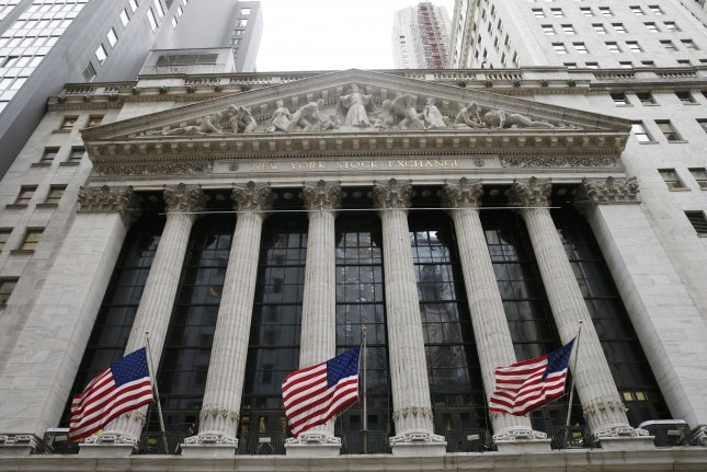 The Dow Jones Industrial Average dropped 68.93 points Wednesday as it fell for the third consecutive day. FilePhoto by John Angelillo/UPI