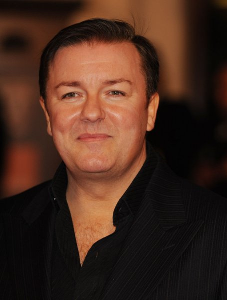 British comedian Ricky Gervais attends The Orange British Academy Film Awards at Royal Opera House in London on February 10, 2008. (UPI Photo/Rune Hellestad)