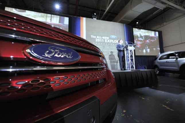 Onerecall affects Explorers produced between 2013 and 2017 and Ford said the defect could result in a fracture of the rear toe link that could lead to an accident. File Photo by Brian Kersey/UPI