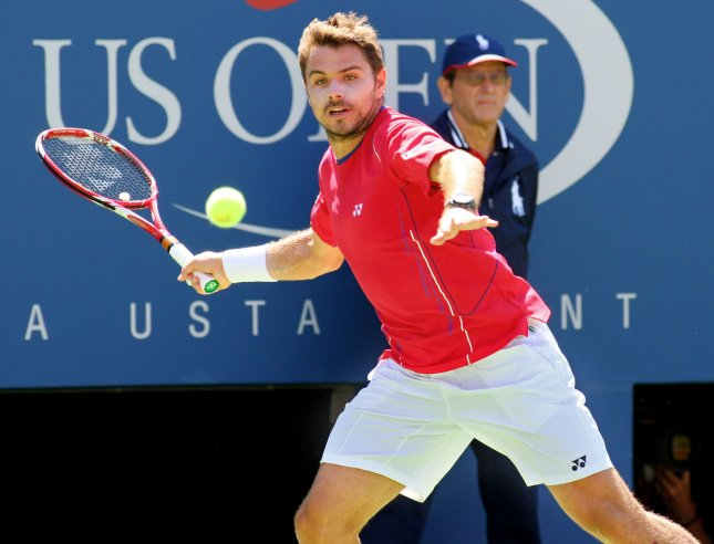 Stanislas Wawrinka, shown at this year's U.S. Open, collected a second-round win Thursday at the Thailand Open. UPI /Monika Graff