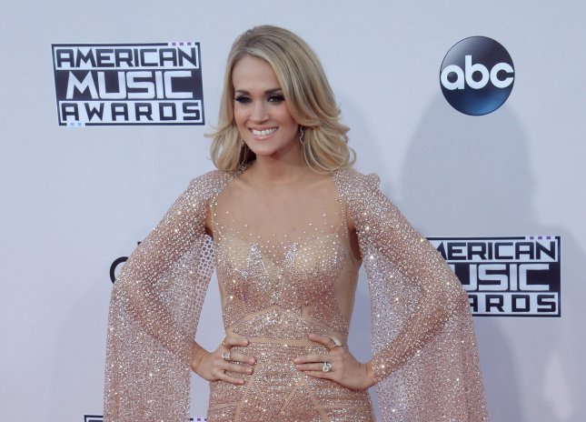 Carrie Underwood at the American Music Awards in Los Angeles, Calif. on Nov. 22. Photo by Jim Ruymen/UPI