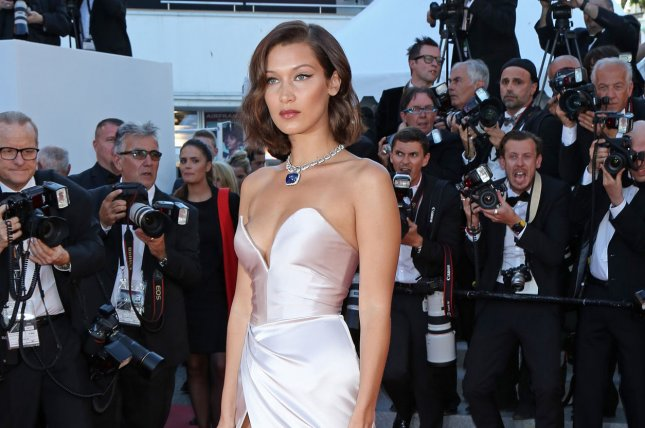 Bella Hadid attends the Cannes International Film Festival screening of Les Fantomes d'Ismael (Ismael's Ghosts) on Wednesday. Photo by David Silpa/UPI