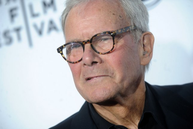 Tom Brokaw arrives on the red carpet at the opening night premiere of Live From New York! at the 2015 Tribeca Film Festival at the Beacon Theatre in New York City on April 15, 2015. He turns 80 on February 6. File Photo by Dennis Van Tine/UPI
