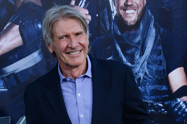 Cast member Harrison Ford attends the premiere of the motion picture thriller The Expendables 3 at TCL Chinese Theatre in the Hollywood section of Los Angeles on Aug. 11, 2014. Photo by Jim Ruymen/UPI