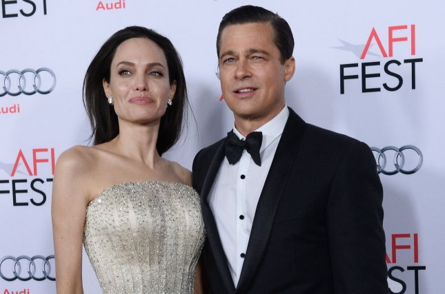 Angelina Jolie (L) and Brad Pitt at the AFI Fest premiere of By the Sea on November 5, 2015. File Photo by Jim Ruymen/UPI