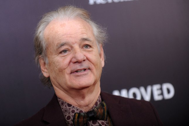 Bill Murray arrives on the red carpet for the premiere of The Monuments Men on February 4, 2014. Murray was seen supporting his son Luke Murray's college basketball team, the Xaiver Musketeers, during the first round of the NCAA tournament. File Photo by Dennis Van Tine/UPI