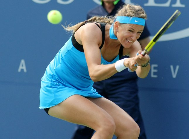 Victoria Azarenka, shown at last year's U.S. Open, lost just one game Wednesday in taking a win in second-round play of the Australian Open. UPI/Monika Graff