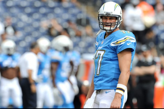 Philip Rivers and the San Diego Chargers are likely hoping the team can leave its recent string of mediocre football in their old home. Photo by Jon SooHoo/UPI