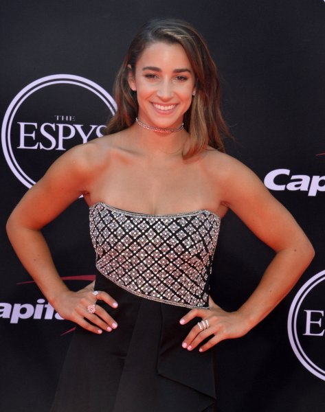 Olympic gymnast Aly Raisman attends the 25th ESPYS at the Microsoft Theater in Los Angeles in July. Photo by Jim Ruymen/UPI
