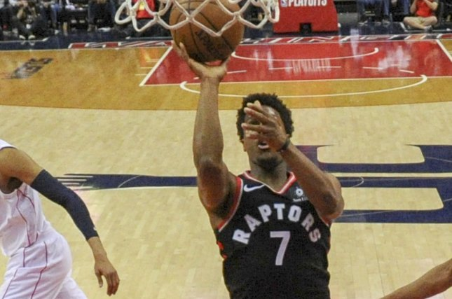 Kyle Lowry and the Toronto Raptors face the Washington Wizards on Friday. Photo by Mark Goldman/UPI