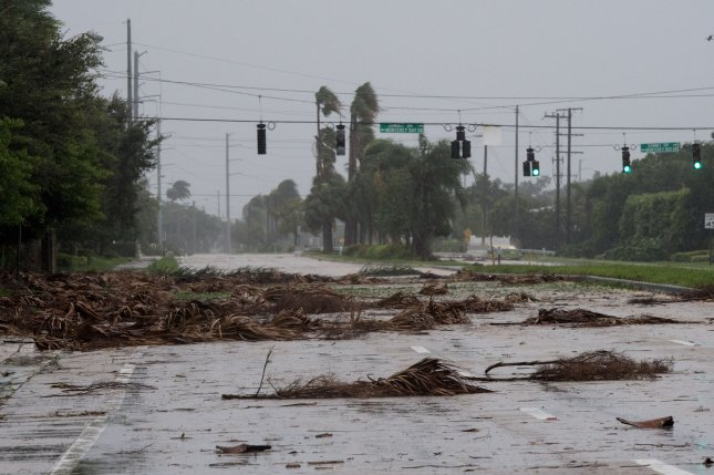 Damage and debris caused by Hurricane Irma is seen in Boynton Beach, Fla., on September 10, 2017. File Photo by Ken Cedeno/UPI