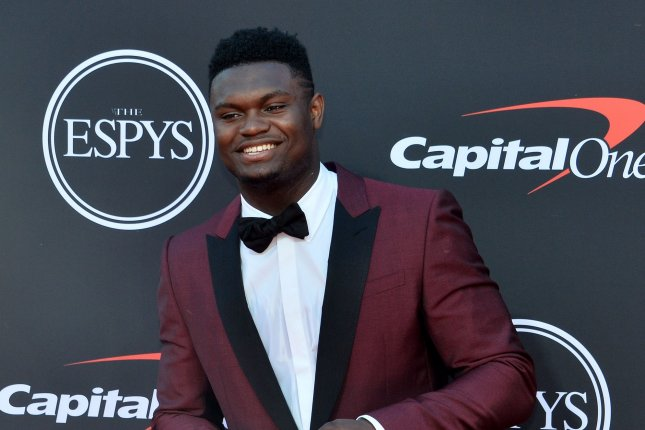 New Orleans Pelicans rookie star Zion Williamson didn't make the trip with the team to New York for their preseason finale against the Knicks on Friday. File Photo by Jim Ruymen/UPI