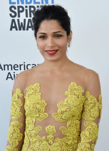 Actress Freida Pinto will soon be heard voicing a character in the animated series Mira, Royal Detective on Disney Junior. File Photo by Jim Ruymen/UPI