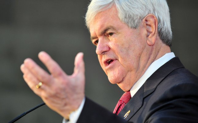 Republican presidential candidate Newt Gingrich speaks at a barbeque rally in Waterloo, South Carolina on January 19, 2012. UPI/Kevin Dietsch