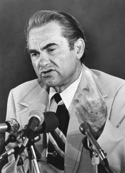 George Wallace on June 4, 1976. (UPI Photo/Files)