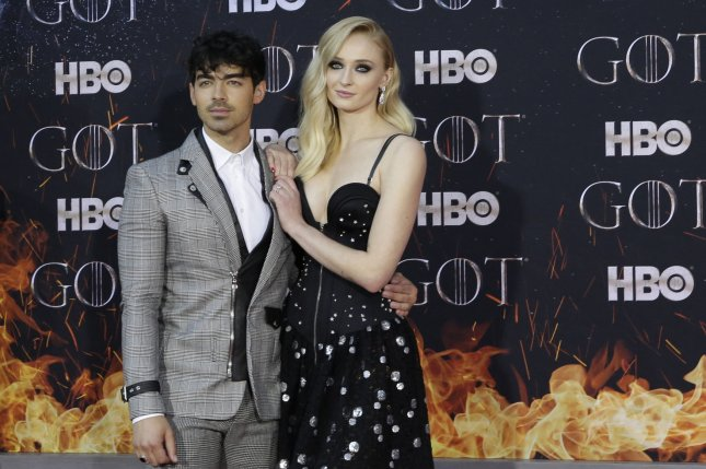 Sophie Turner (R), pictured with Joe Jonas, File Photo by John Angelillo/UPI