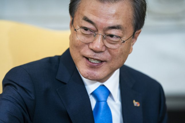South Korean President Moon Jae In looks to resume a joint tourism venture with North Korea, which was started in 1998 as a symbol of the two countries' cooperation. Photo by Jim Lo Scalzo/UPI
