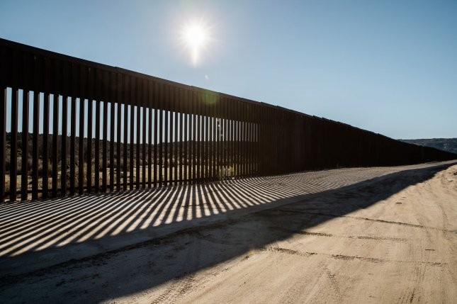 View of the border wall in Jacumba, California, that separates the United States and Mexico. Photo by Ariana Drehsler/UPI