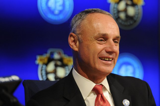 The MLBPA previously delayed its vote after MLB commissioner Rob Manfred made late adjustments to the league's 60-game offer. File Photo by Lori Shepler/UPI
