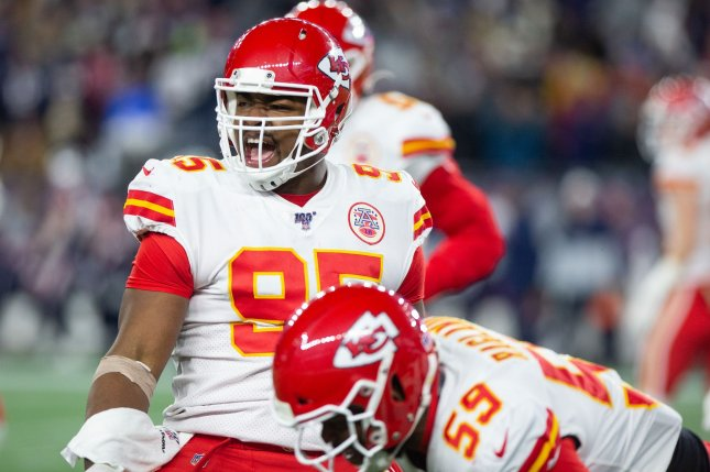 Kansas City Chiefs defensive tackle Chris Jones (95) will consider not playing in 2020 if he doesn't get a contract extension from the AFC West franchise this off-season. File Photo by Matthew Healey/UPI