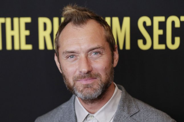 Jude Law will play Captain Hook in Disney's live-action film Peter Pan & Wendy. File Photo by John Angelillo/UPI