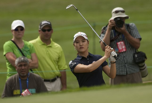 Ryu So-yeon, shown in a 2011 file photo, has moved back into the women's golf Top 10 as the LPGA prepares to begins a four-week swing through Asia. UPI/Gary C. Caskey