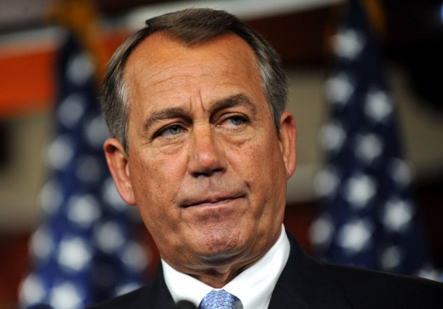 U.S. House Speaker John Boehner said Tuesday President Obama was absent without leave in the effort to keep tax cuts and avoid massive spending cuts. Bush-era tax cuts are set to end in January, and automatic massive government cutbacks kick in that month as well if there is no overall agreement to reduce government debt, called a sequester. May 10 file photo. UPI/Kevin Dietsch