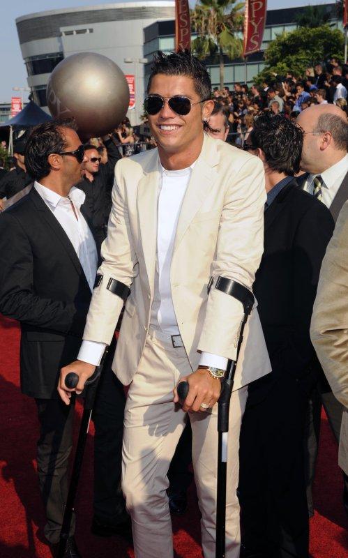 Football star Cristiano Ronaldo arrives at the 2008 ESPY Awards in Los Angeles, California on July 16, 2008. (UPI Photo/Jim Ruymen)