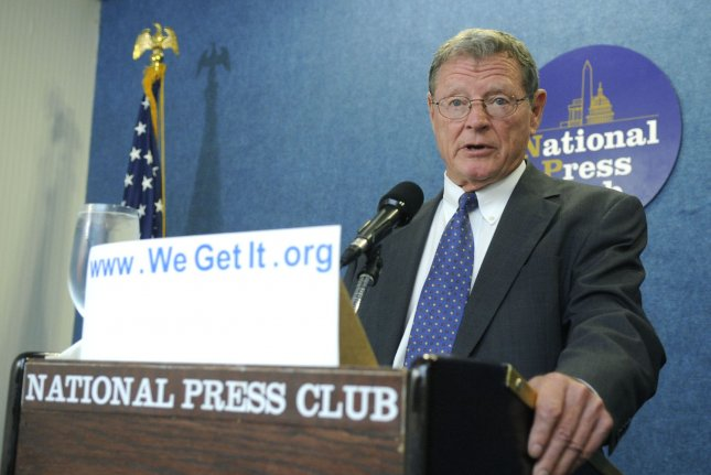Sen. James Inhofe, R-Okla, has been involved in several incidents involving small aircraft. Photo UPI Photo/Kevin Dietsch
