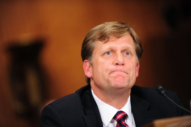 Former U.S. ambassador to Russia Michael McFaul, seen here in 2011, has been placed on the Kremlin's sanctions list and banned from entering Russia. Photo by Kevin Dietsch/UPI