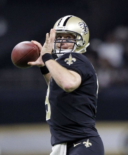 Drew Brees and the New Orleans Saints take on the Tampa Bay Buccaneers on Sunday. Photo by AJ Sisco/UPI