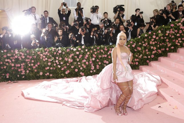 Nicki Minaj arrives on the red carpet at The Metropolitan Museum of Art's Costume Institute Benefit Camp: Notes on Fashion in New York City on May 6. The singer turns 37 on December 8. File Photo by John Angelillo/UPI