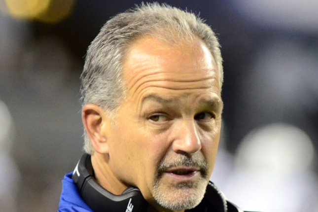 Chuck Pagano, who served as Chicago Bears defensive coordinator for the last two seasons, plans to retire this off-season. File Photo by Archie Carpenter/UPI