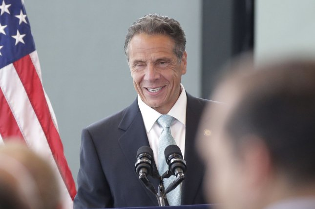 New York Gov. Andrew Cuomo arrives for his speech at One World Trade Center in New York City on June 15. The New York Assembly's Judiciary Committee informed him he had until Aug. 13 to prevent additional evidence into his impeachment probe. File Photo by John Angelillo/UPI