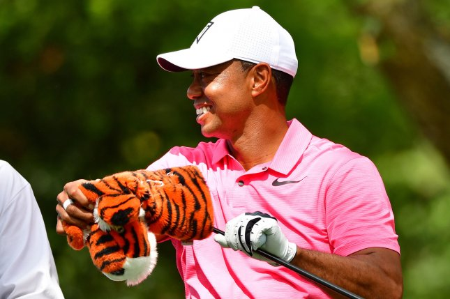 Tiger Woods prepares to hit off the second tee during a practice round  before the start of the Masters Monday at Augusta National Golf Club in  Augusta e1c13364b71