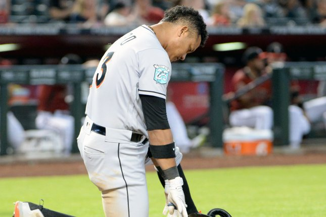 Miami Marlins' Starlin Castro. File photo by Art Foxall/UPI