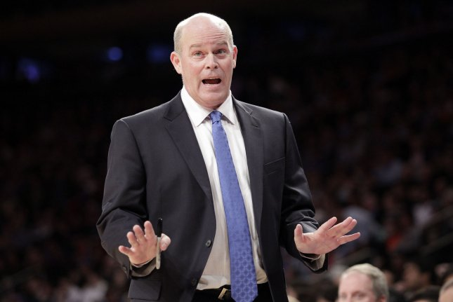 Orlando Magic head coach Steve Clifford stands near the bench in the first half against the New York Knicks in the first quarter on November 5, 2013 at Madison Square Garden in New York City. File photo by John Angelillo/UPI