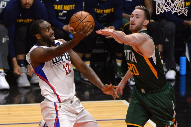 Former Los Angeles Clippers forward Luc Mbah a Moute (L) played only four games for the Clippers in the 2018-19 campaign due to injuries and hasn't been on an NBA roster this season. File Photo by Jon SooHoo/UPI