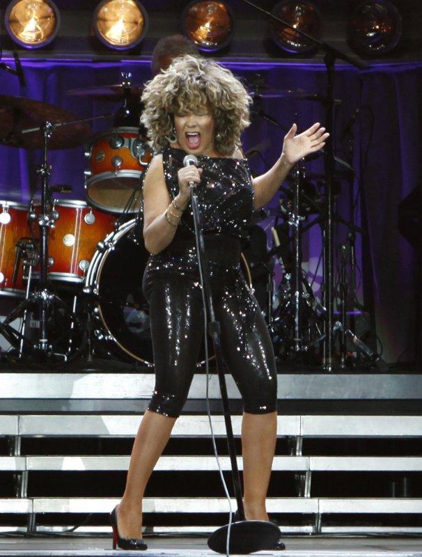 Singer Tina Turner performs in concert at Bercy in Paris on April 29, 2009. (UPI Photo/David Silpa)