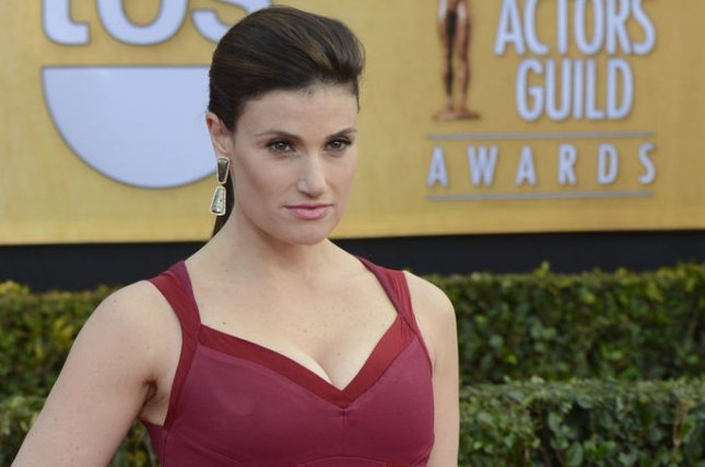 Actress Idina Menzel arrives for the 19th Annual SAG Awards held at the Shrine Auditorium in Los Angeles on on January 27, 2013. UPI/Phil McCarten
