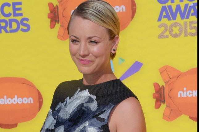 Actress Kaley Cuoco, pictured here at the Nickelodeon Kids' Choice Awards in March, thanked fans for their support as she divorces her husband Ryan Sweeting in her first public message regarding the split. File Photo by Jim Ruymen/UPI